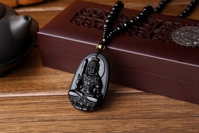 Black Buddha Necklace