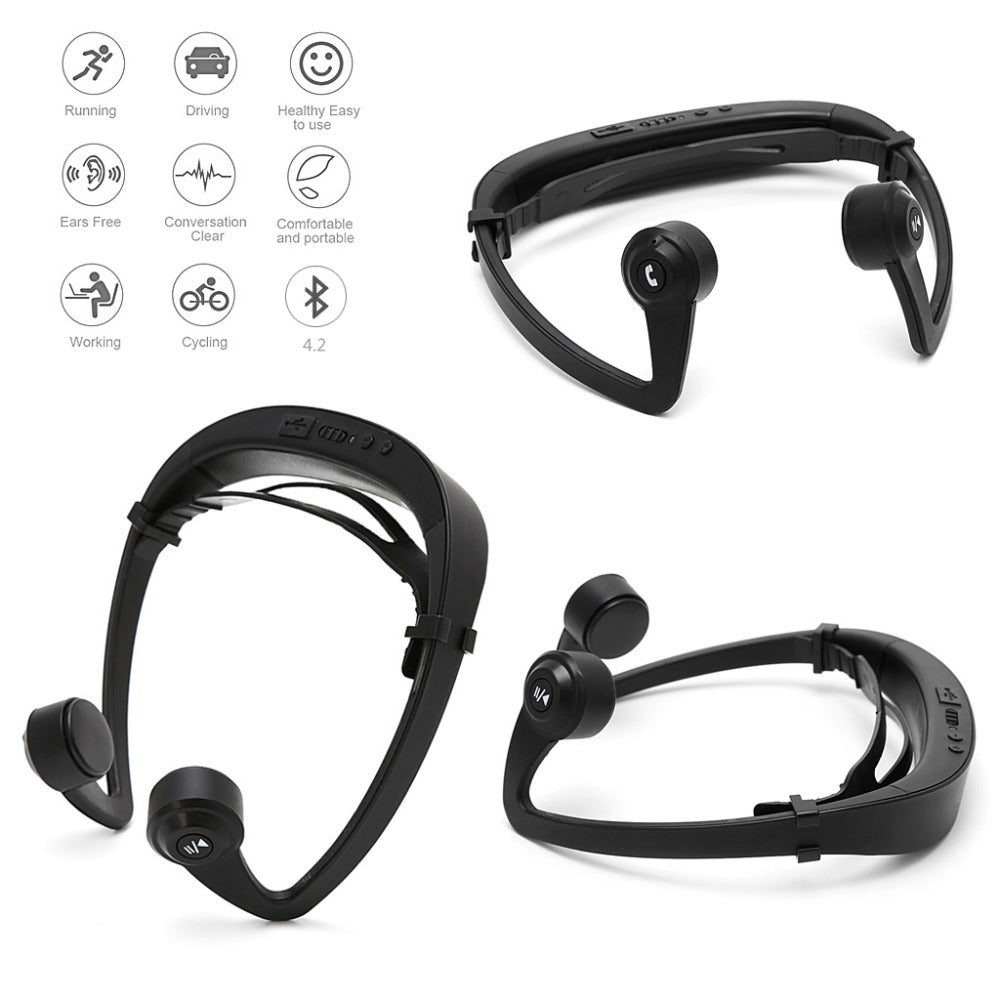 Smart Bone Conduction Bluetooth Headphone