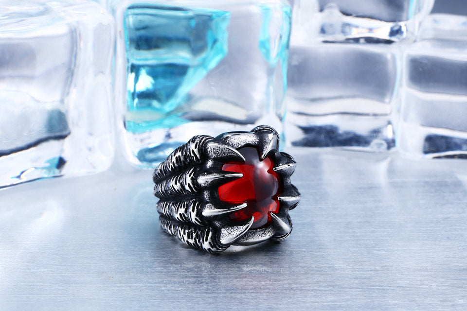 Dragon Claw Steel Ring