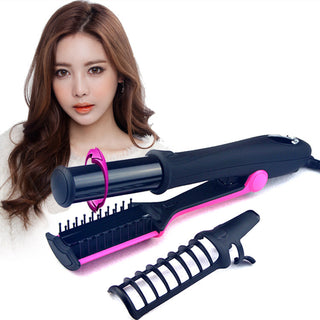 2 Way Rotating Curling Straightening Iron