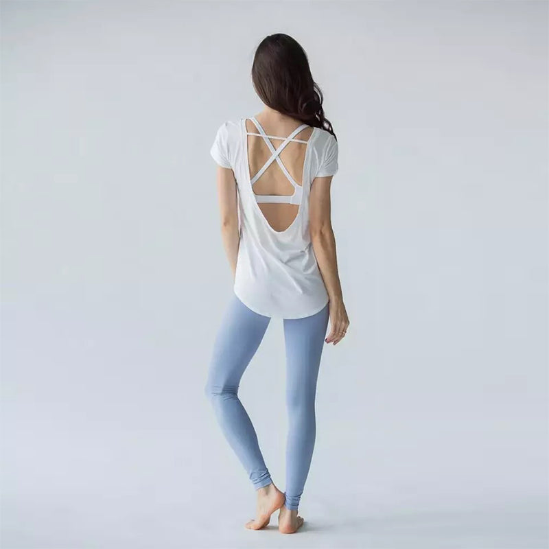 Open-Back Yoga Crop Top