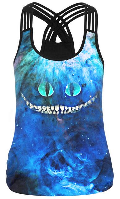 Women Sleeveless Skull 3d Printed Top