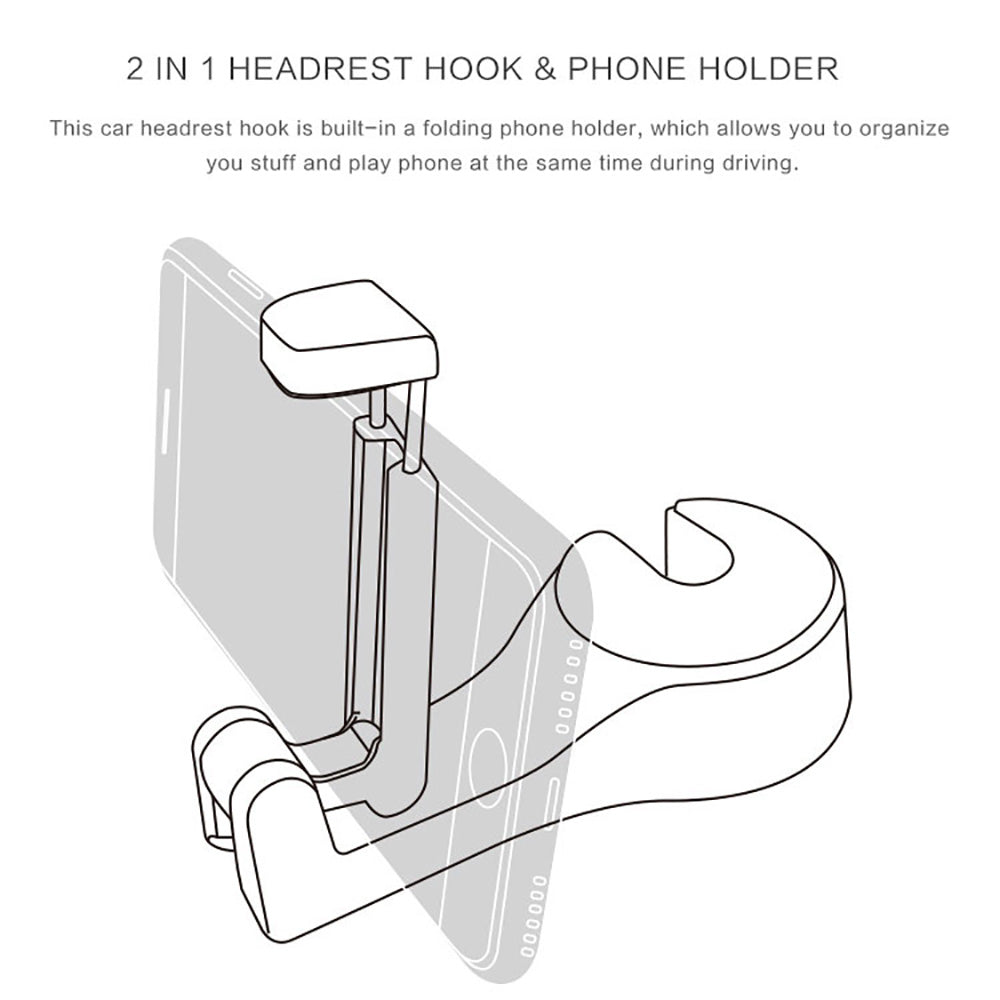 Hirundo Car Headrest Hook