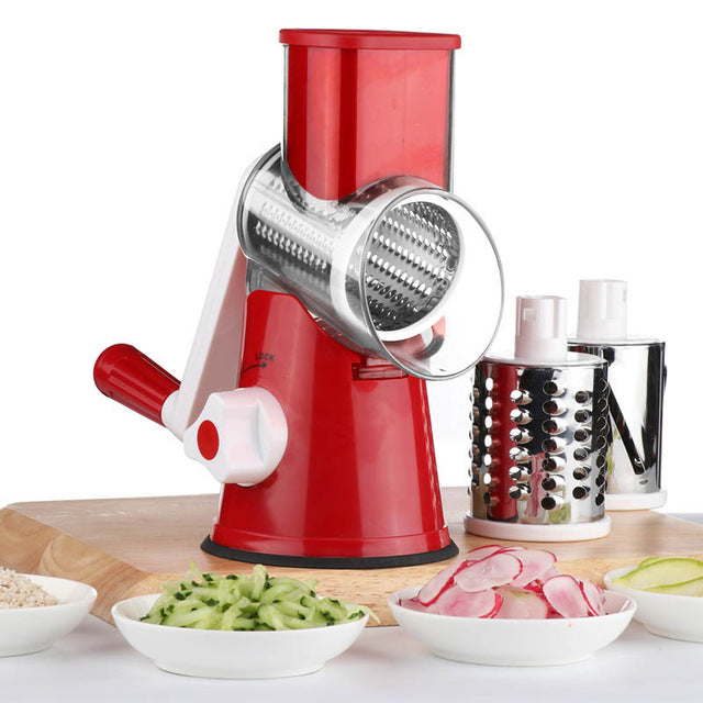 Manual Vegetable Cutter Red