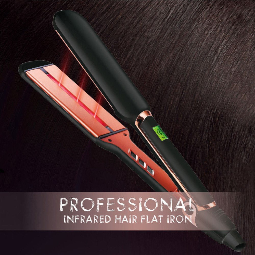 Madami Infrared Wide Plate Ceramic Tourmaline Hair Straightener Iron Keratin Straightener