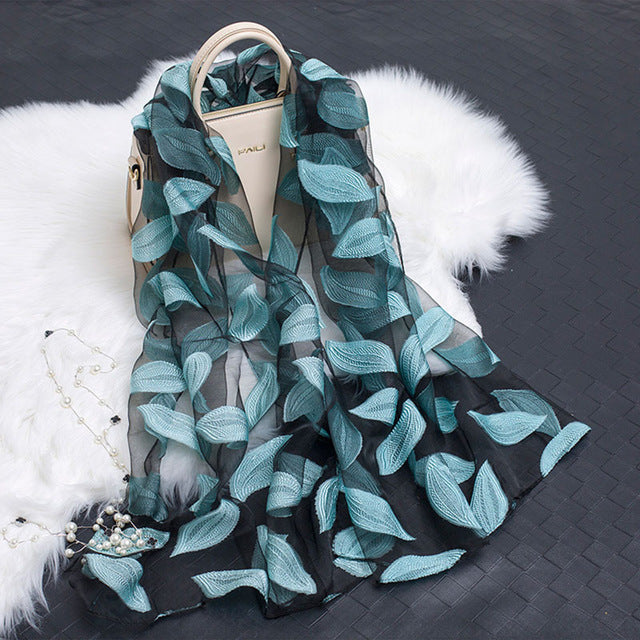 Summer Breeze Sheer Wrap Organza Scarf