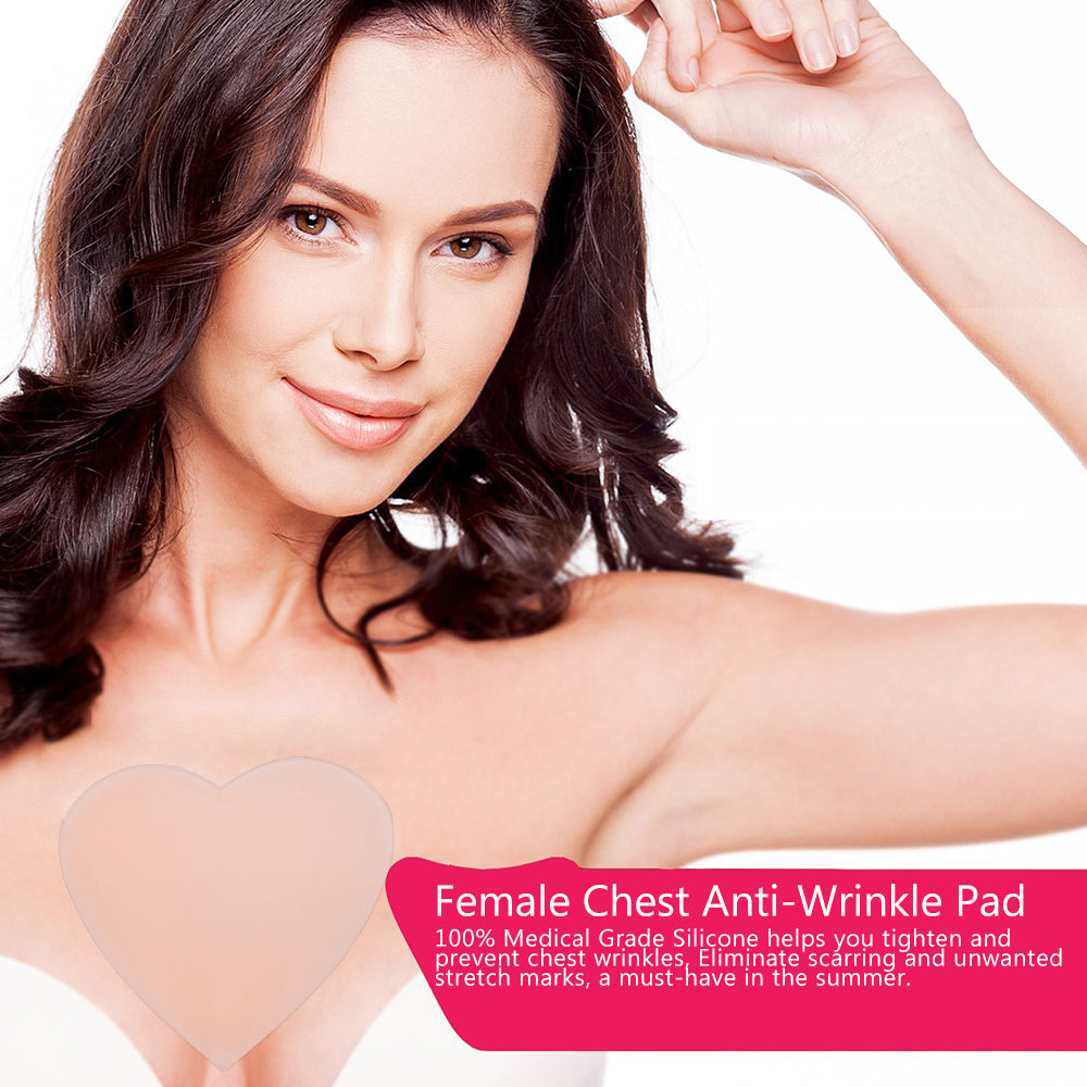 SkinPad™ Chest Anti-Wrinkle Made From Organic Silicone Pad By SiO™