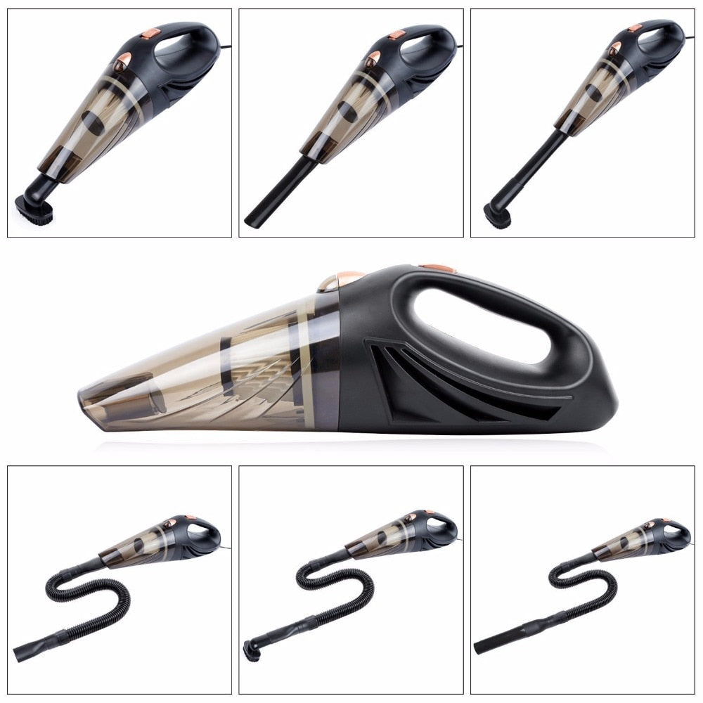 Strong Power Auto portable car vacuum cleaner
