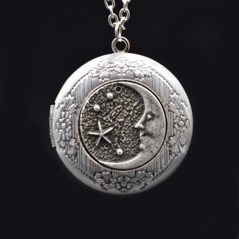1pcs Charm Moon Stars Locket Necklace Pendant
