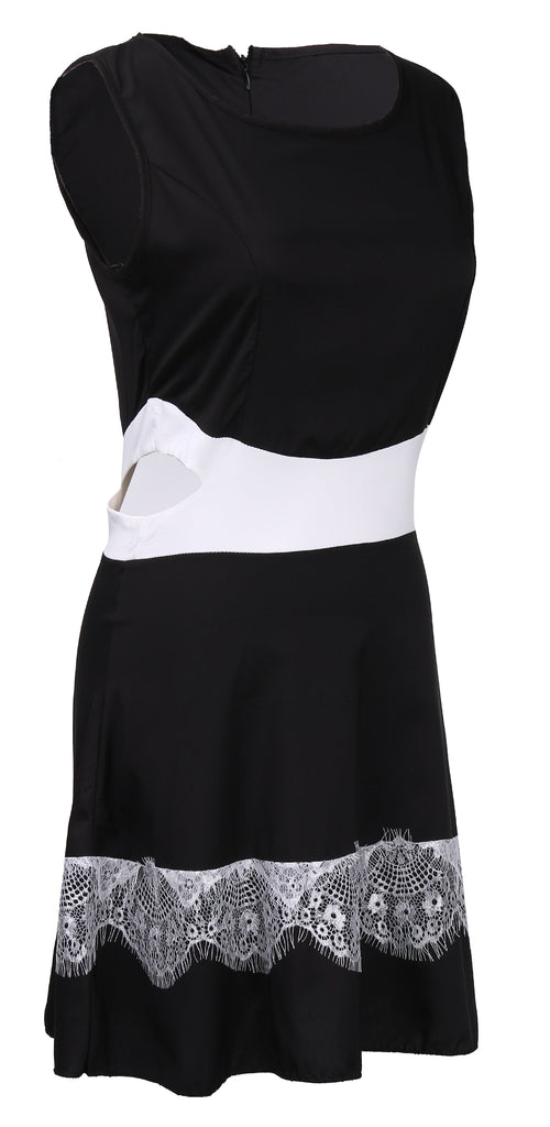 Women sleeveless summer casual beach dress