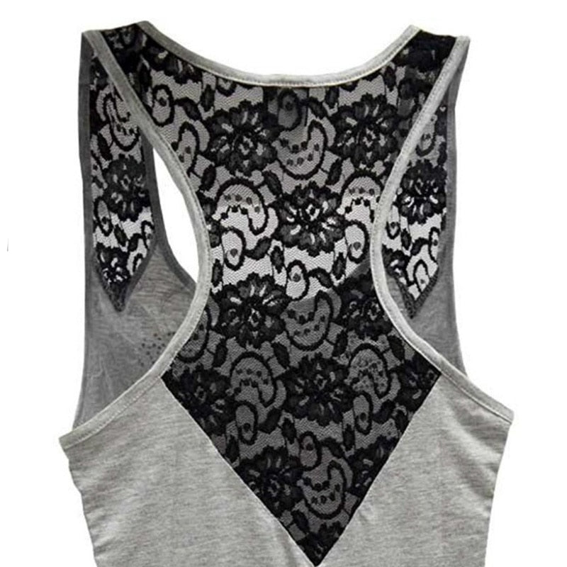 Casual skull print hollow top