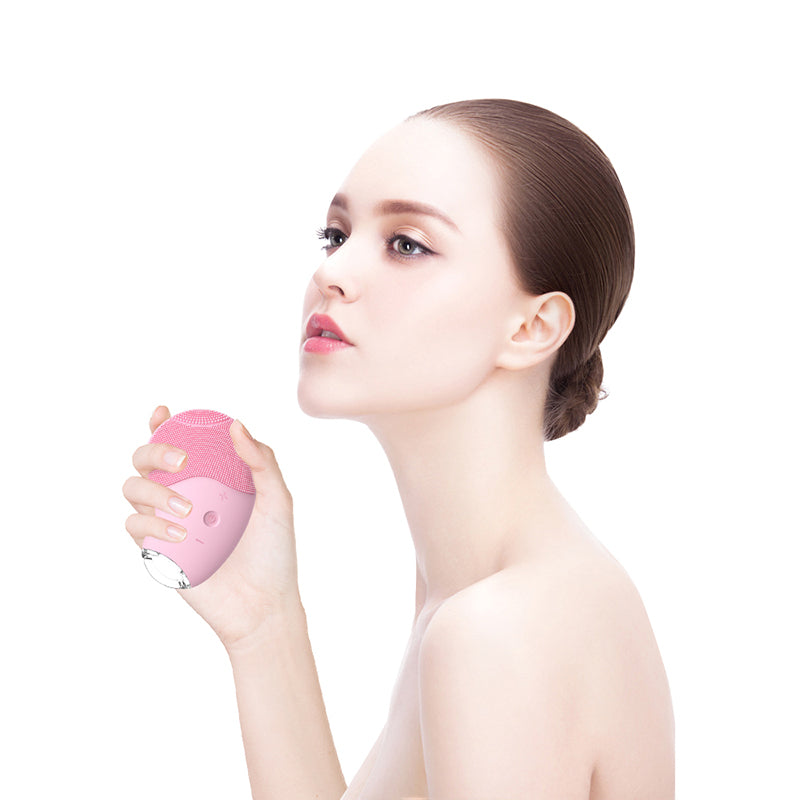 Electric facial cleansing ultrasonic brush