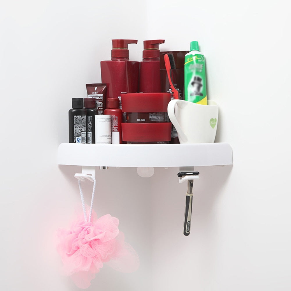 Snap Up Bathroom Shelf Organizer!