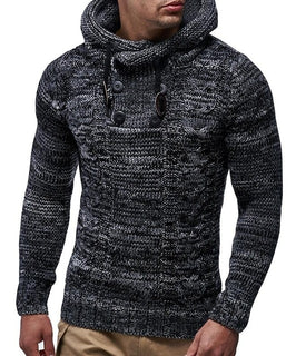 Hooded Knitted Men Sweater
