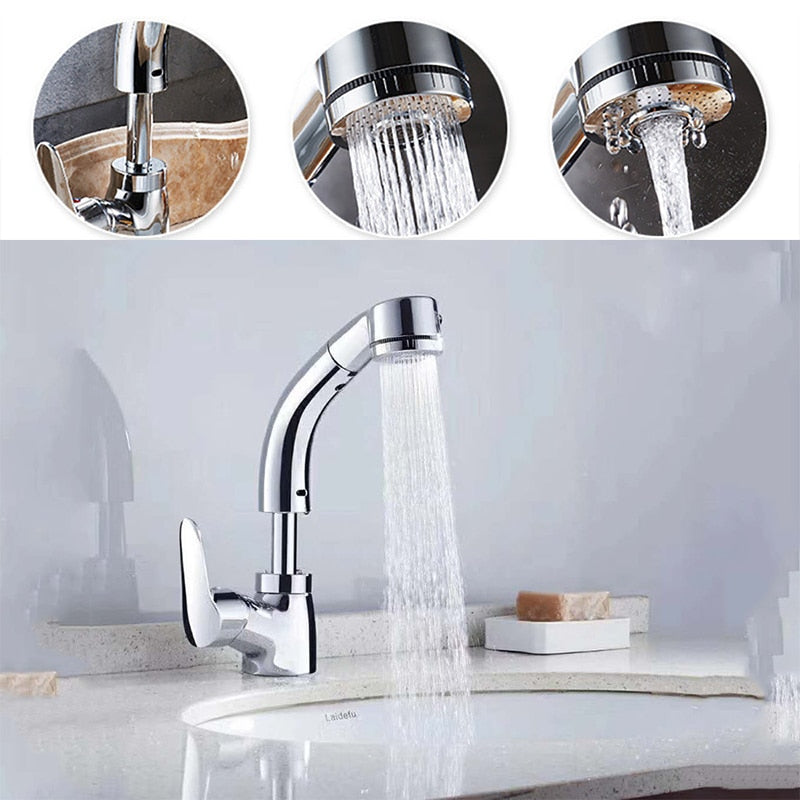 Height Adjustable Pull-out Sink Tap