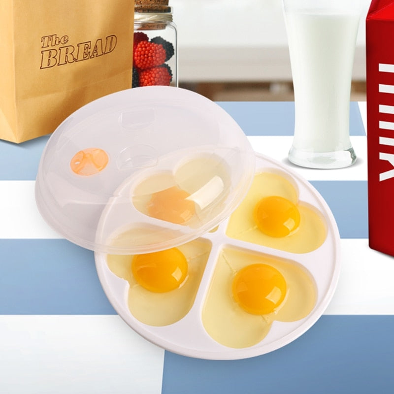 Love heart shaped microwave egg cooker