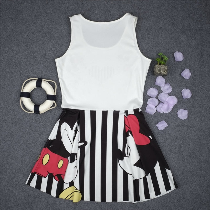 Minnie Mickey mouse party dress