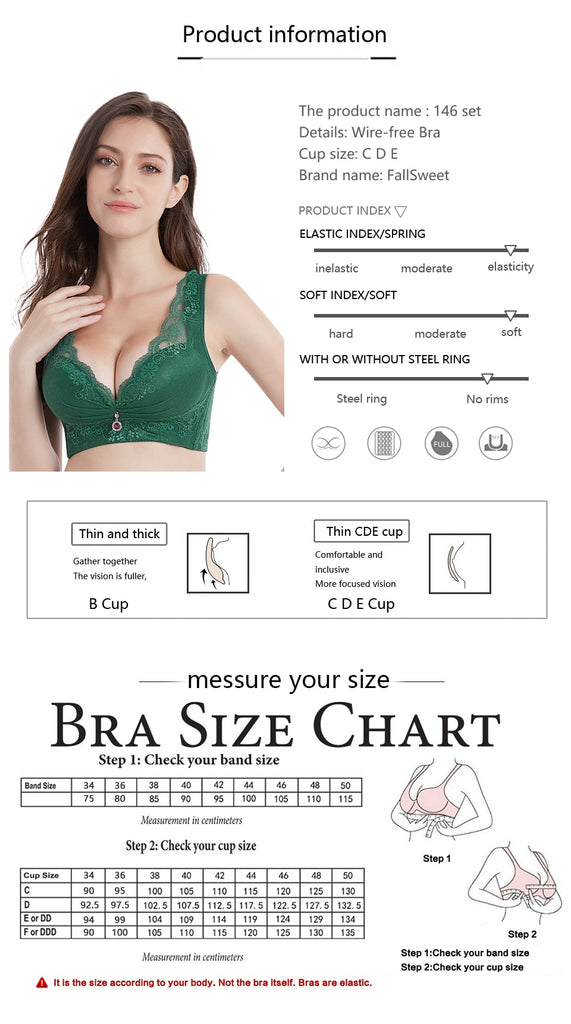 Wire free push up bra
