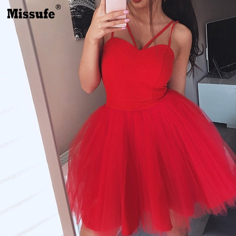 Casual Mesh Party Dress