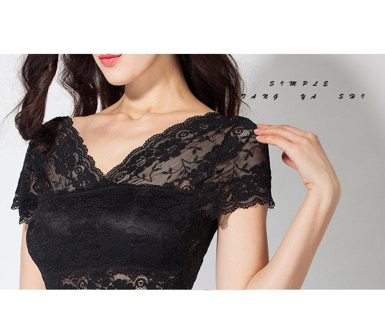 Lace embroidered female underwear