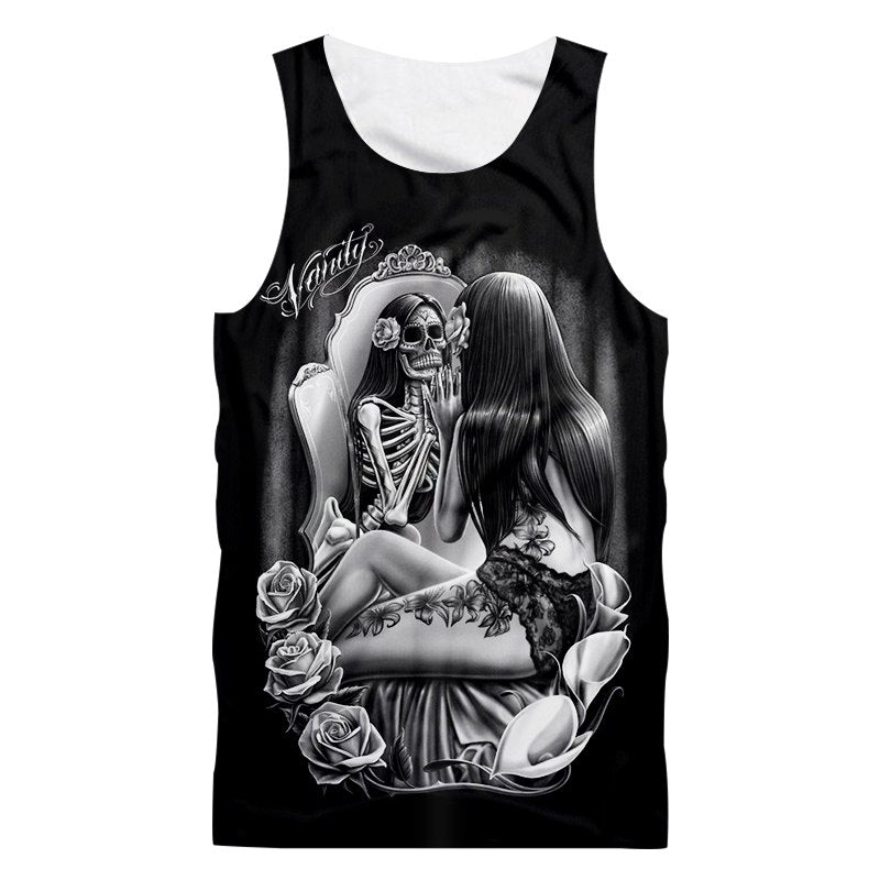 Goblin rose 3d print tank top