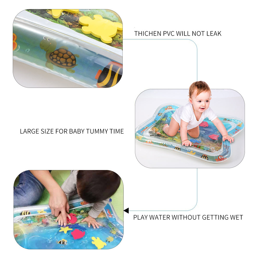 KIDTE™ Tummy Time Inflatable Water Mat for Babies