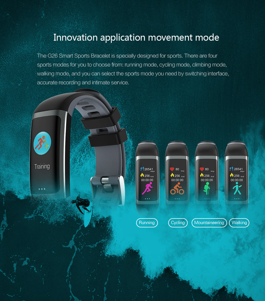 Smart blood pressure waterproof android band