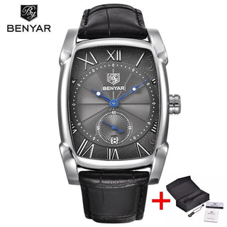 Men's square waterproof business watch