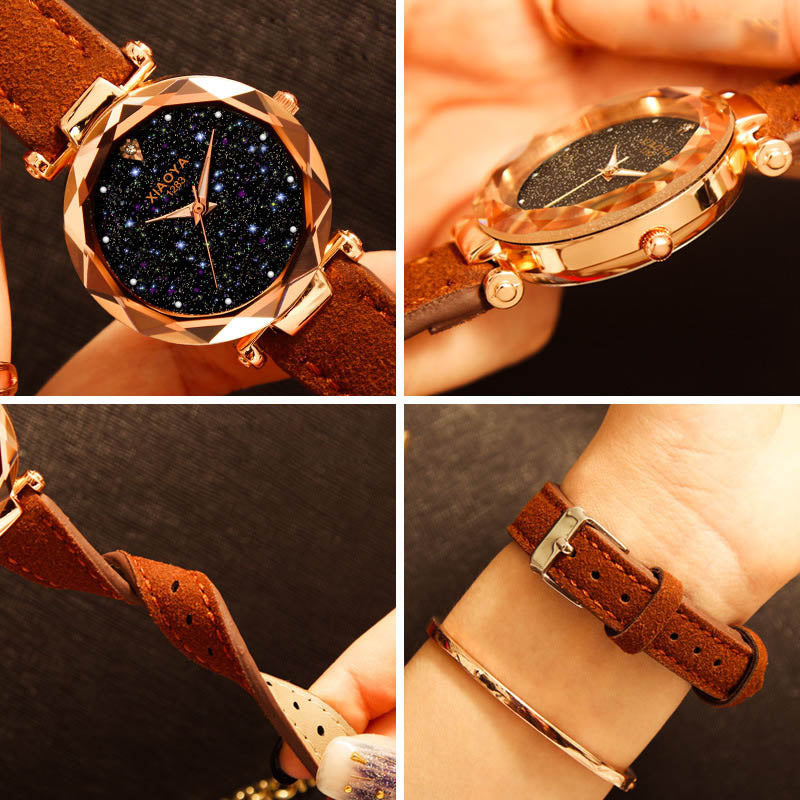 Luxury Starry Sky Wrist Watch For Ladies