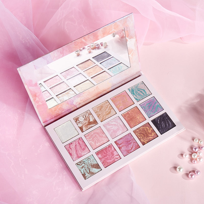 15 Color Glitter Shimmer Eyeshadow Palette