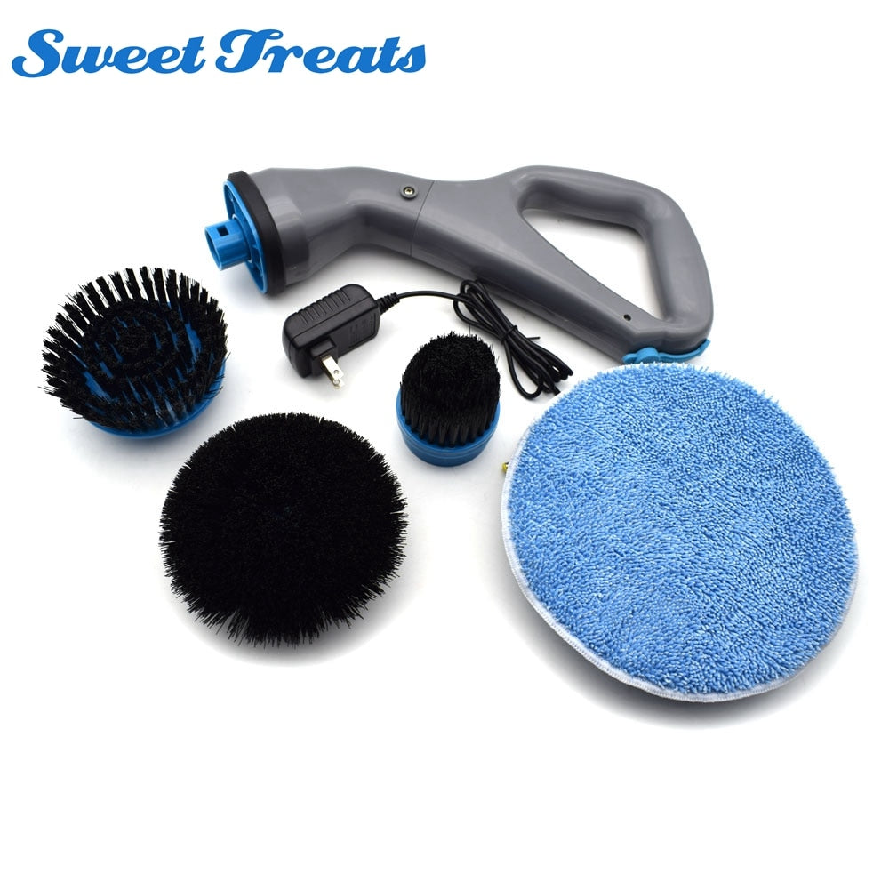 3 in 1 Electric Scrubber Brush Set Rechargable