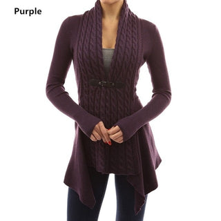 V-neck Cashmere Knitted Coat