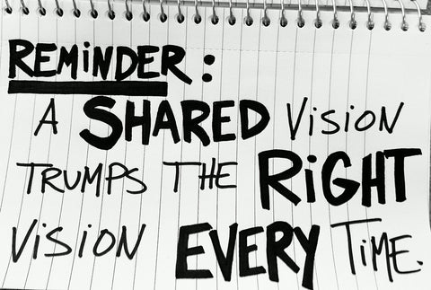 How to develop the shared vision of your private practice?