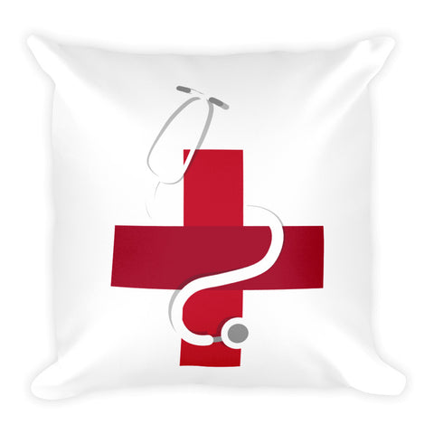 Heart shaped stethoscope - Square Pillow