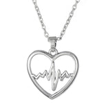 Lifeline Heart ECG Pulse Medical Necklace