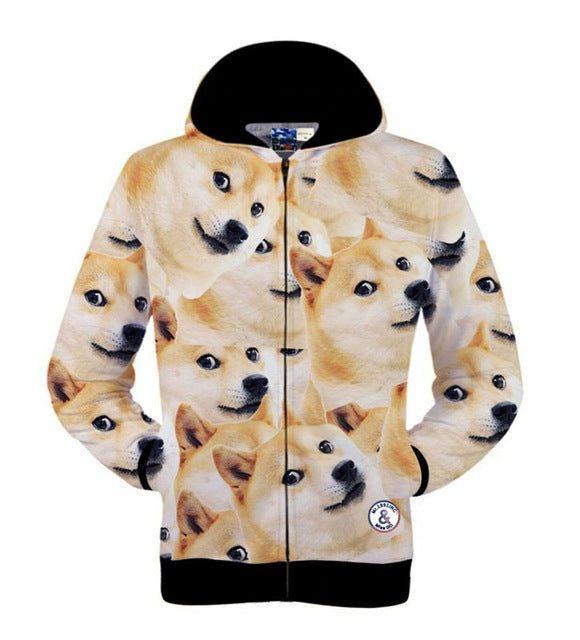 f027feda570f ... 3D Hoodie Zip UP Cats Various Designs - Purple Jelly Store