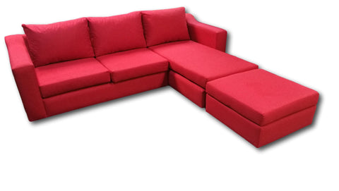 Corner couch with cushion seats