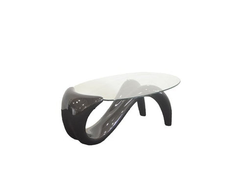 Oval glass top