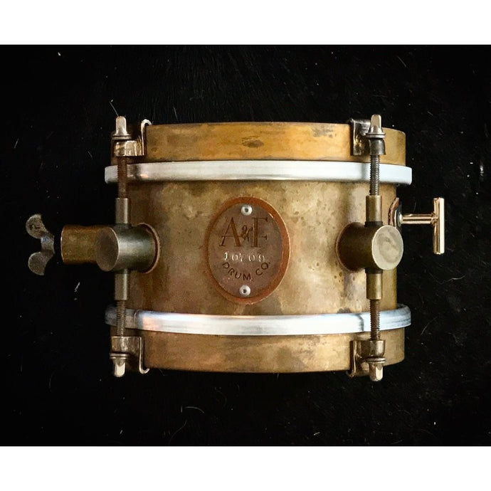 A&F Drum Co 6x4 Raw Brass Snare