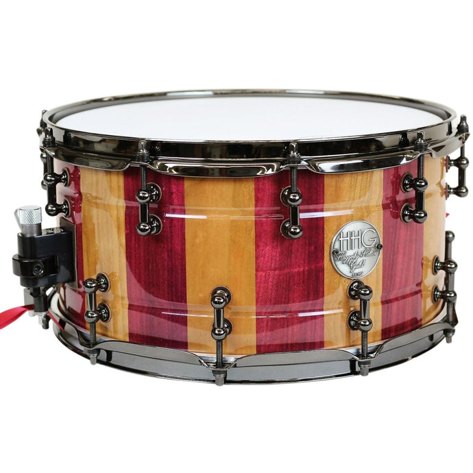 HHG Drums Cherry And Purple Heart Stave Snare