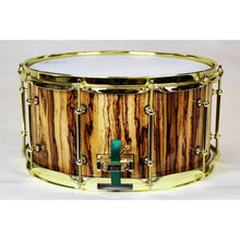 HHG Drums Gold Figured Zebrawood Stave Snare Drum