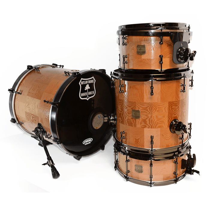 Outlaw Drums Douglas Fir Solid Wood Drum Kit