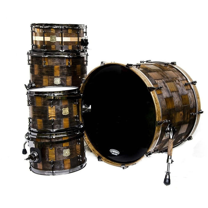 Outlaw Drums Heart Pine / Fir Patch Drum Kit