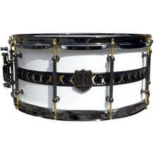 "T Berger Drums 14"" White/Gold Brass Snare Drum"