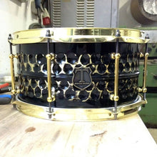 "T Berger Drums 14""x6,5"" Hammered Brass Snare Drum"