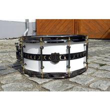 "T Berger Drums 14""x6,5"" White/Gold Brass Snare Drum"