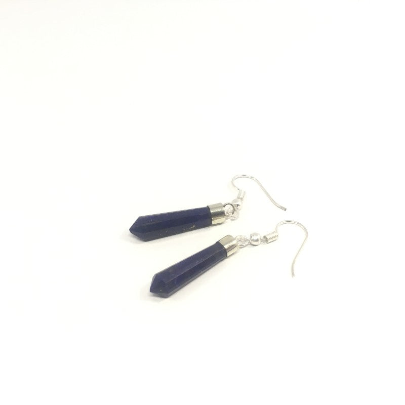 Lapis Lazuli Earring - Lapis Earring with sterling silver - 30.60 ct