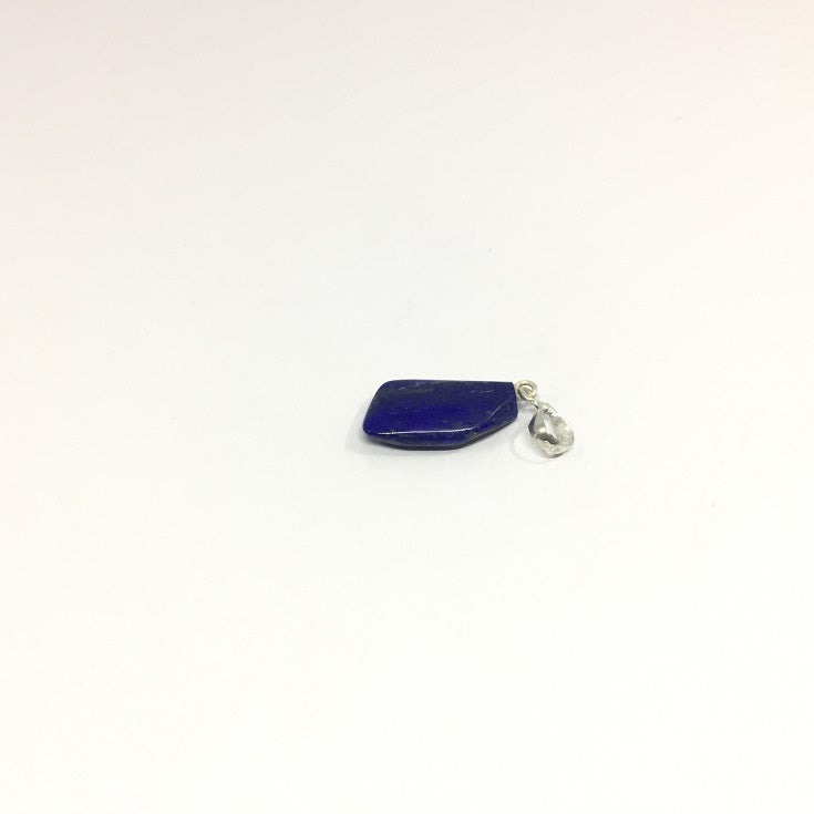 Lapis Lazuli Necklace - Lapis Pendant Rough Cut - 18.40 ct
