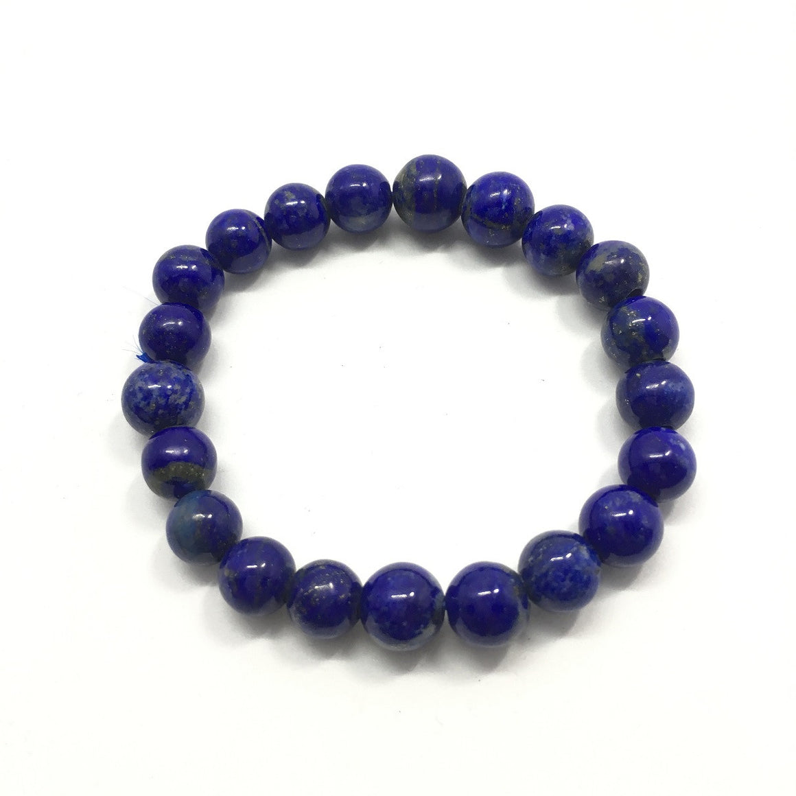 62.5 Carat , 21 Round Beads Handmade Bracelet With Elastic Stretch,Grade AAA Quality Beads
