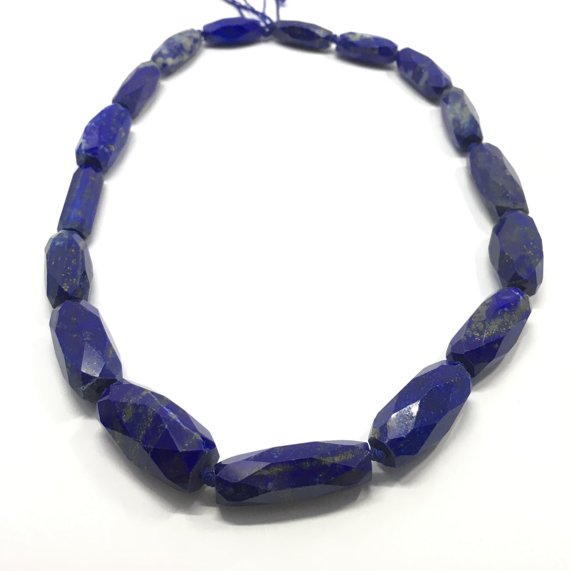 Lapis Lazuli Necklace - Lapis Necklace Marquise Cut Beads - 261.5 ct